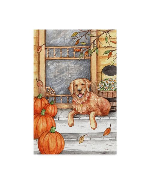 "Trademark Global Melinda Hipsher 'Autumn Golden Welcome' Canvas Art - 12"" x 19"""