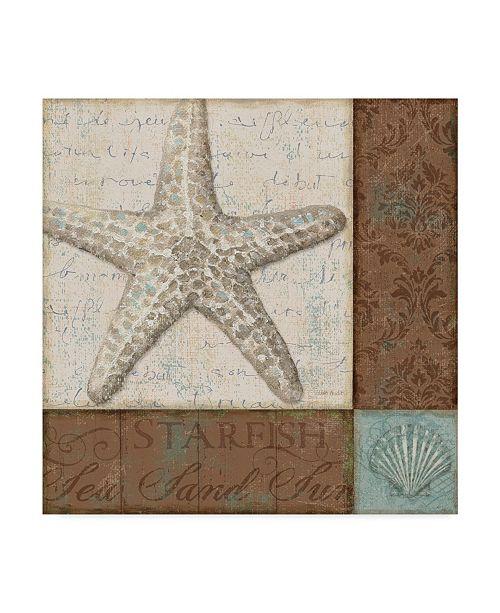 "Trademark Global Lisa Audit 'Brown and Teal Shell II' Canvas Art - 14"" x 14"""