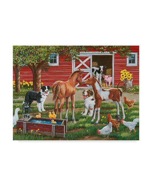 "Trademark Global William Vanderdasson 'Welcoming The New Pony' Canvas Art - 14"" x 19"""