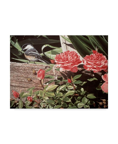 """Trademark Global Ron Parker 'Rail Fence And Roses' Canvas Art - 14"""" x 19"""""""