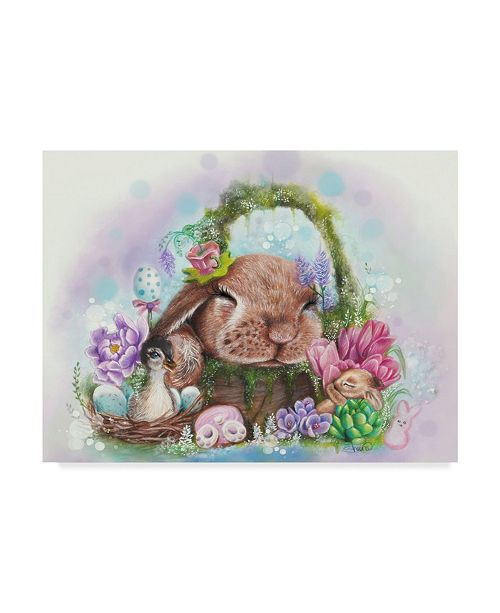 """Trademark Global Sheena Pike Art And Illustration 'Dreaming Of Spring' Canvas Art - 14"""" x 19"""""""