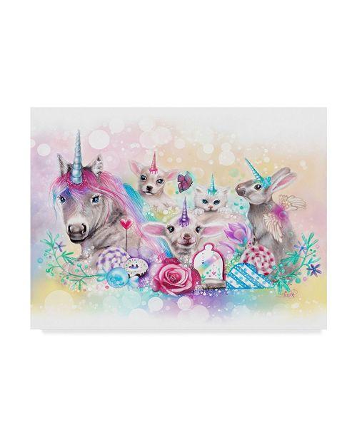 "Trademark Global Sheena Pike Art And Illustration 'Want To Be Unicorns' Canvas Art - 14"" x 19"""