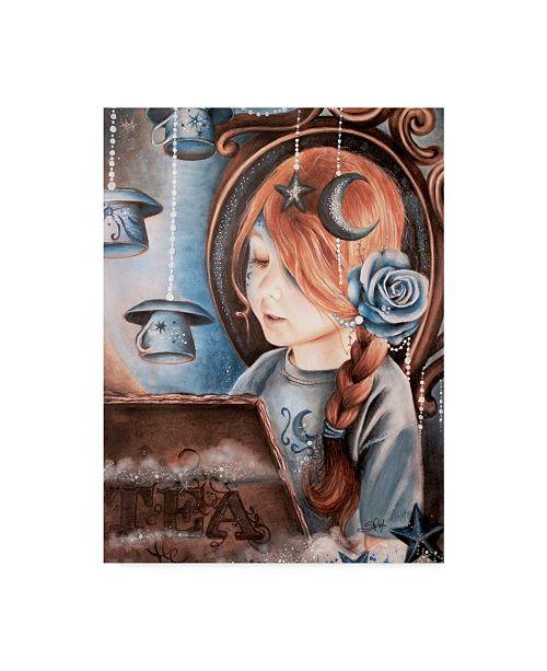 "Trademark Global Sheena Pike Art And Illustration 'Tea In The Moonlight' Canvas Art - 14"" x 19"""