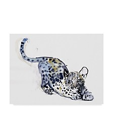 "Mark Adlington 'Stretching Cub Leopard' Canvas Art - 14"" x 19"""
