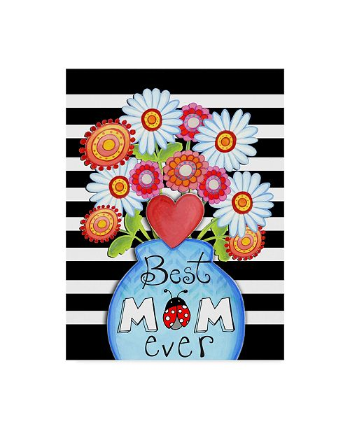 "Trademark Global Valarie Wade 'Best Mom Ever' Canvas Art - 14"" x 19"""