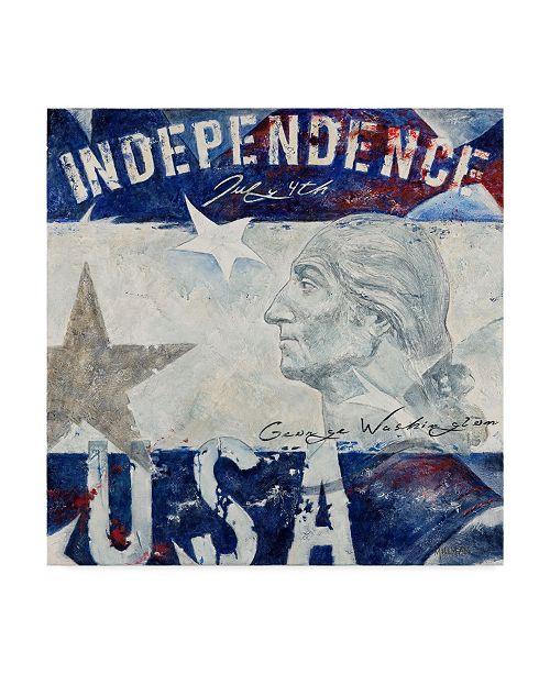 """Trademark Global Jason Bullard 'Washington' Canvas Art - 14"""" x 14"""""""