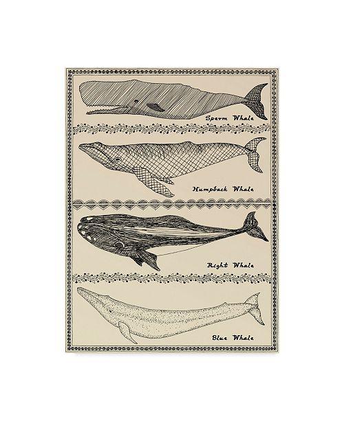"Trademark Global Willow Bascom 'Scrimshaw Whale' Canvas Art - 14"" x 19"""