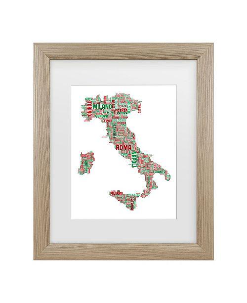 "Trademark Global Michael Tompsett 'Italy Iii' Matted Framed Art - 11"" x 14"""