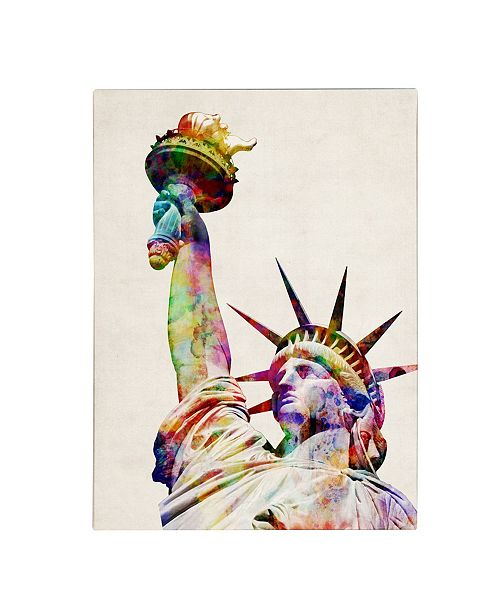 "Trademark Global Michael Tompsett 'Statue of Liberty' Canvas Art - 14"" x 19"""