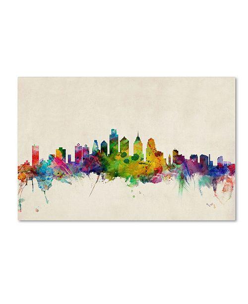 "Trademark Global Michael Tompsett 'Philadelphia, Pennsylvania' Canvas Art - 14"" x 19"""