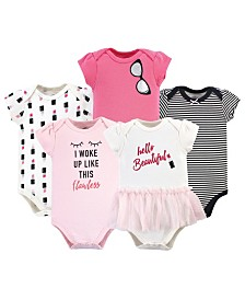 Little Treasure Baby Cotton Bodysuits, 5 Pack
