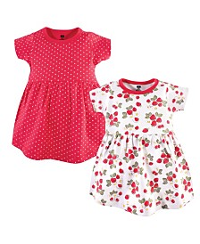 Hudson Baby Baby Girl Cotton Dress, 2 Pack