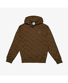 Lacoste Men's L!Ve Allover Logo Sweatshirt