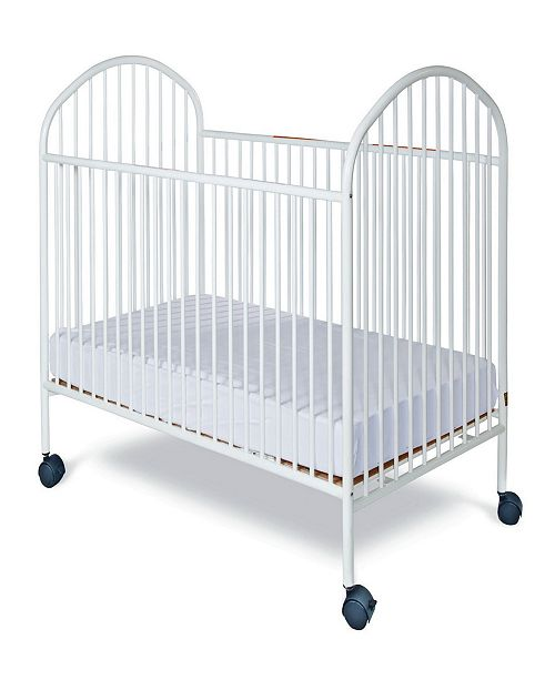 """Child Craft Classico Full Size Steel Non-Folding Crib, Slatted Ends, 2"""" Casters"""