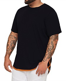 MVP Collections Big and Tall Snake Back Applique Hi-Lo Tee