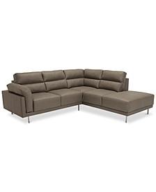 Arcalis 2-Pc. Leather Sectional Sofa