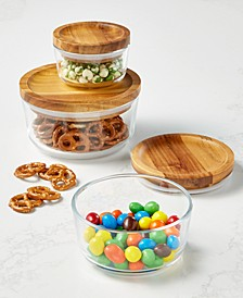 6-Pc. Storage Set with Wood Lids