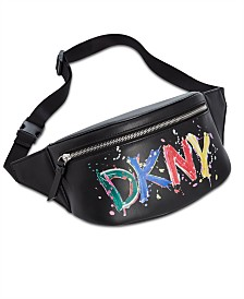 DKNY Tilly Paint Logo Belt Bag, Created for Macy's