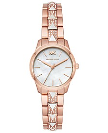 Women's Petite Runway Mercer Rose Gold-Tone Stainless Steel Bracelet Watch 28mm