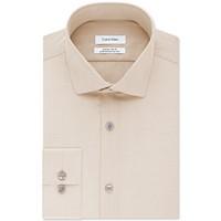 Deals on Calvin Klein X Men's Steel Extra-Slim Fit Herringbone Shirt