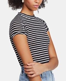 Free People Nigh Sky Striped Short-Sleeve T-Shirt