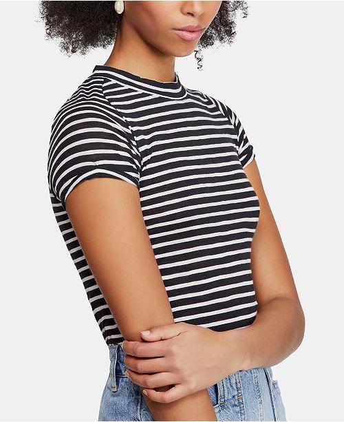 Free People Nigh Sky Striped Short-Sleeve T-Shirt