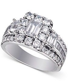 Diamond Bridal Ring (3 ct. t.w.) in 14k White Gold