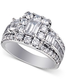 Diamond Bridal Ring (3 ct. t.w.) in 14k White Gold