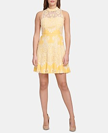 kensie Lace A-Line Dress