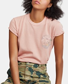 Free People Wipeout Embroidered T-Shirt