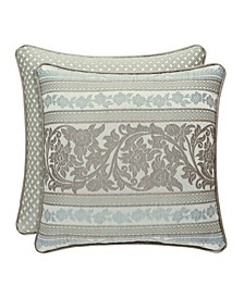 "J. Queen New York Monticello 18"" Sqaure Collection Decorative Pillow"