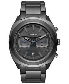 Men's Tumbler Gunmetal Stainless Steel Bracelet Watch 48mm