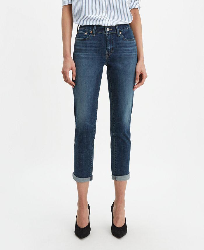 Levi's - New Boyfriend Distressed Tapered-Leg Jeans