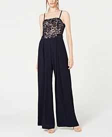 Juniors' Lace-Top Jumpsuit