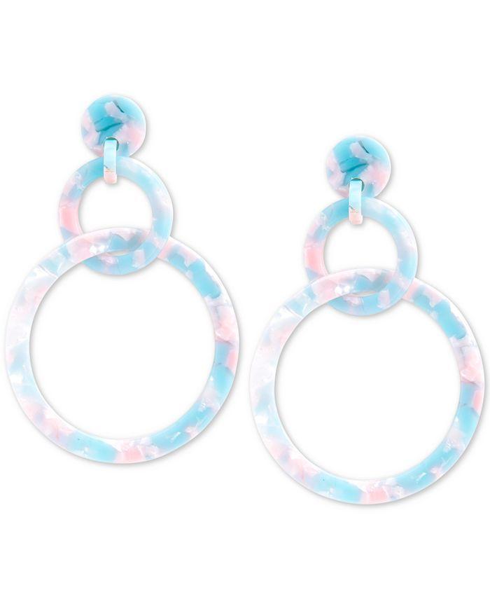 Zenzii - Linked Circle Resin Drop Earrings