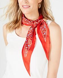 Lauren Ralph Lauren Cameron Floral Diamond Silk Scarf