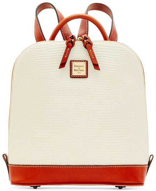 Dooney & Bourke Lizard Embossed Leather Pod Backpack, Created for Macys