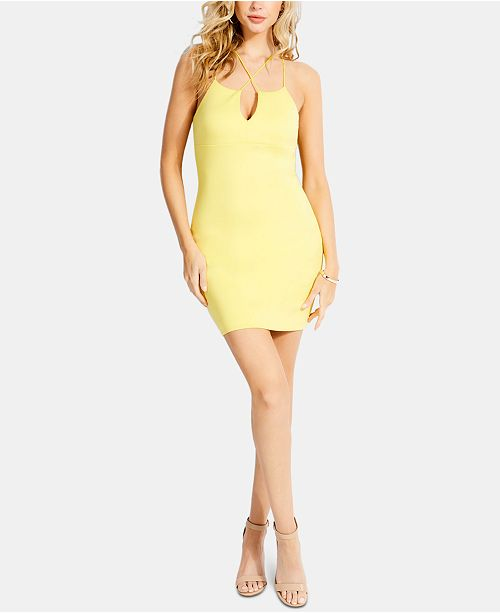 GUESS Sleeveless Strappy-Back Bodycon Dress