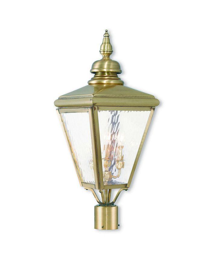 Livex - Cambridge 3-Light Outdoor Post Top Lantern