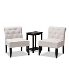Veda Accent Chair Set, Quick Ship