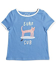 Toddler Girls Surfs Up Graphic Cotton T-Shirt