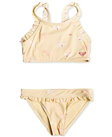 Roxy Little Girls 2-Pc. Tropical Getaway Swimsuit