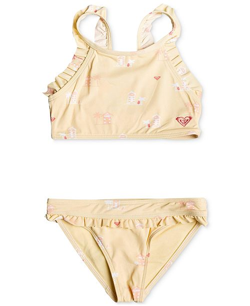 Roxy Toddler Girls 2-Pc. Tropical Getaway Swimsuit