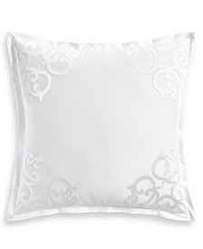 Classic Scroll Appliqué Cotton European Sham, Created for Macy's