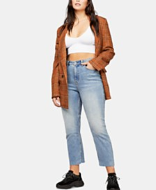Free People Vintage Curvy-Fit High-Rise Jeans