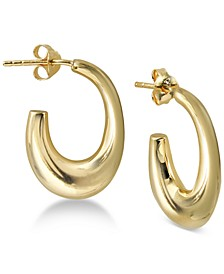 Chunky Hoop Earrings in Gold-Plated Sterling Silver