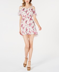 Rachel Zoe Aphrodite Cold-Shoulder Mini Dress