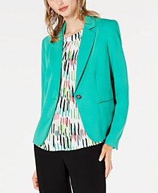 One-Button Notch Collar Jacket, Created for Macy's