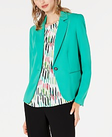 Bar III One-Button Notch Collar Jacket, Created for Macy's