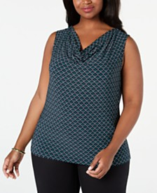 Nine West  Plus Size Cowlneck Top